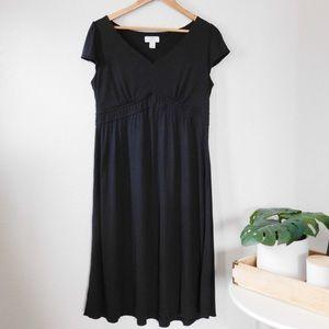 LOFT Modal V-Neck Midi Dress